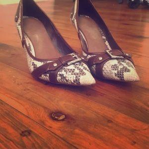 Karen Millen snake print high heels